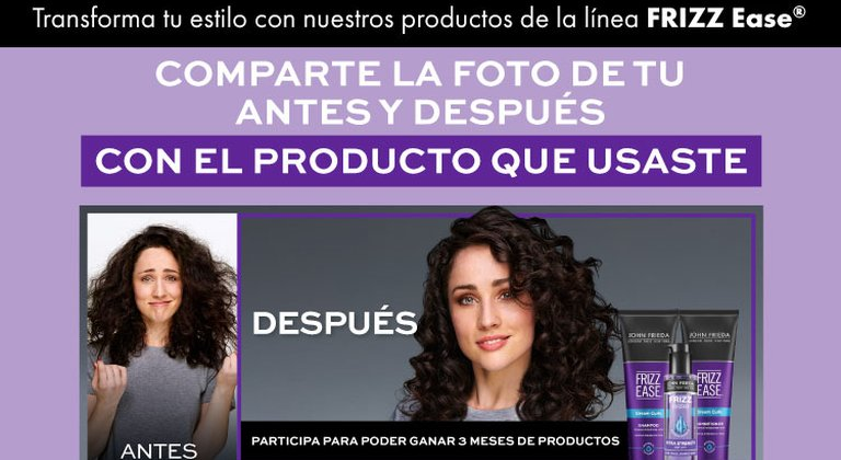 ¡Experimenta y transforma tu cabello con productos John Frieda® Frizz Ease®!